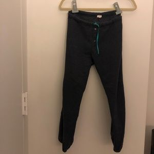 J Crew Heather Blue Sweatpants